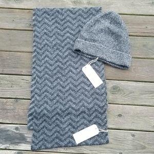 NWT m0851 baby alpaca scarf and hat set